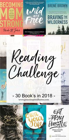 30 Books in 2018 Reading Challenge Reading Time, Reading Lists, Book Lists, Love Reading, Reading Resources, Reading Nook, Book Challenge, Reading Challenge, Challenge Ideas