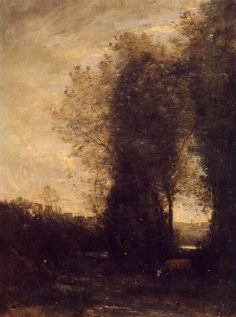 Jean-Baptiste-Camille Corot, A Cow and Its Keeper