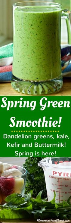 Spring Green Smoothie! homemadefoodjunkie.com