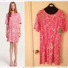 Lilly Pulitzer Raquel Printed Dress drawstring dress. never worn with tag on Lilly Pulitzer Dresses