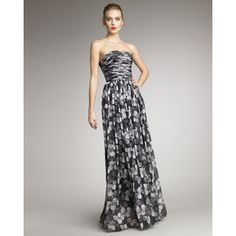 Jason Wu Floral-Print Strapless Gown