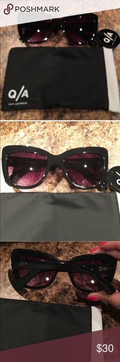 "NWT Quay ""Breath of Life"" sunglasses. NWT Quay ""Breath of Life"" sunglasses. Black frames with a light purple tint lenses. Authentic. Comes with soft case. The ultimate Hollywood sunglasses. Slightly oversized frame style. Quay Australia Accessories Sunglasses"