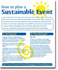 How to Plan a Sustainable #Event. #green #ecofriendly