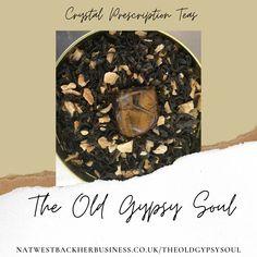 Tigers Eye Crystal Infused Tea Spicy Lemon and Ginger Black Tea blend