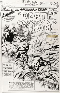 Jack Kirby // Death Comes to Thor