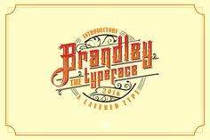 Brandley Typeface by uncurve on @creativemarket