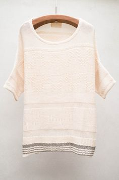 Natural Hand Knit Sweater