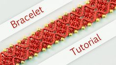 How to make a nice macramé bracelet with waves and beads. This bracelet looks great and it's not hard to make :)