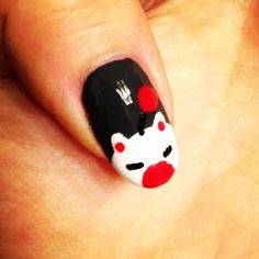 Moogle :) Creative Nail Designs, Creative Nails, Anime Nails, Beauty Tips, Beauty Hacks, Final Fantasy Ix, Geek Games, Fun Nails, Halloween Ideas