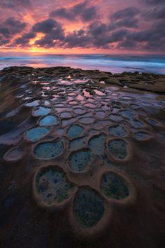 Sunset in Hospitals Reef, La Jolla, San Diego, California, United States