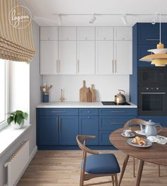 If you've always dreamed of creating the perfect blue kitchen, you've come to the right place! In this blog we're exploring different shades of blue kitchen cabinets, countertop options, different ways to incorporate blue cabinetry into your kitchen, as well as types of hardware that would look great with blue cabinets. Let's get into all things blue! Kitchen Room Design, Home Room Design, Home Decor Kitchen, Interior Design Kitchen, Kitchen Sets, New Kitchen, Home Kitchens, Boho Kitchen, Shaker Kitchen