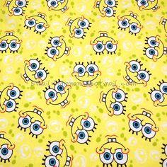 """Barato Hm021 1 Quintal Tecido De Algodão Lixado Personagens de Desenhos Animados, bob esponja Calça Quadrada Face Amarelo (W130), Compro Qualidade Tecido diretamente de fornecedores da China: Material: Tecido De Algodão Lixado lista é para* largura: 130 cm (~ 52 """")* longo: 90 cm (~ 1 jardas)"""