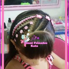 Trendy hair styles for school pretty 36 ideas Cute Girls Hairstyles, Hairstyles With Bangs, Trendy Hairstyles, Braided Hairstyles, Cool Hair Designs, Best Hair Dye, Hair Mask For Damaged Hair, Toddler Hair, Crazy Hair