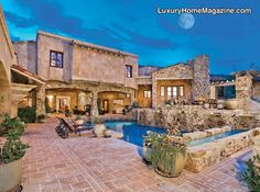 LHM Arizona - Magnificent VILLA PARADISO, a new Italian-inspired hillside estate that captures the charm & character of Old-World Tuscany. The ultimate in casual elegant luxury where the rooms are cozy in size & the views from every vantage point are breathless. Remarkable finishes in a very private setting nestled on five acres &  …