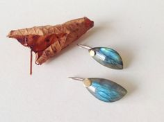 Labradorite Drops Earrings14k gold en silver by DutchJewelryShop