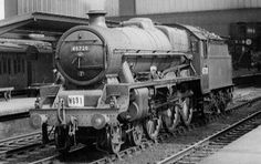 45728 Defiance at Carlisle, 28 July 1959 (photo by Noel A. Machell, courtesy of Mark A. Steam Trains Uk, Steam Railway, Old Trains, British Rail, Train Car, Steam Engine, Steam Locomotive, Carlisle, Diesel Engine