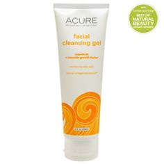 Acure Organics, Facial Cleansing Gel, SuperFruit   Chlorella Growth Factor, 4 fl oz (118 ml)