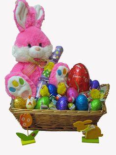 Pink Bunny Easter Gift Basket