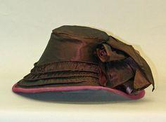 Silk bonnet, British 1855–60