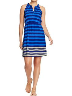 Old Navy. Blue striped dress