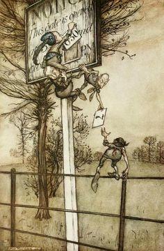 'Peter Pan in Kensington Gardens' Arthur Rackham