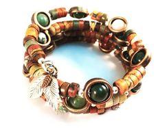 Picasso and Fancy Jasper Autumn Wrap Bracelet