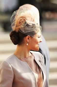 8d50b123776 Crown Princess Victoria of Sweden attends the wedding ceremony of.