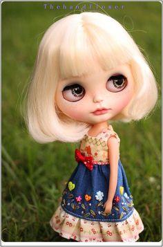 OOAK Custom Blythe doll Face up and Customized por Thehandflower