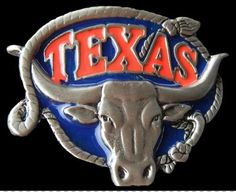 FAMOUS TEXAS LONGHORNS WESTERN RODEO BELT BUCKLES Texas Belt Buckle, Rodeo Belt Buckles, Cool Belt Buckles, Western Belts, Texas Longhorns, Le Far West, Fashion Belts, Cowboy And Cowgirl, Westerns