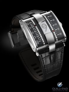 Harry Winston Opus 9 by Jean-Marc Wiederrecht and Eric Giroud Linear hour and minute display