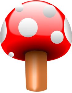 Red Mushroom With White Dots