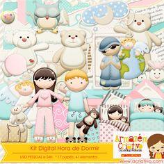 Kit digital Hora de dormir já a venda  www.acriativo.com/loja