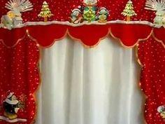 Cenefas Navideñas con Luces Incorporadas Pintadas a mano                                                                                                                                                                                 Más Cortinas Pintadas, Adornos Navideños, Manteles, Ventanas, Decoraciones, Apliques, Cortinas De Navidad, Decoracion Puertas Navidad, Decoracion Navideña Christmas Humor, Christmas Crafts, Christmas Decorations, Xmas, Holiday Decor, Holiday Ideas, Christmas Ideas, Felt Crafts, Diy And Crafts