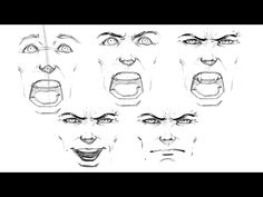 Hello everybody! I'm graphic designer from Odessa, Ukraine. I like draw vector, lettering, boxing, sleep))) Video of my working process in Adobe Illustrator.... How To Draw Comics, Draw Vector, Comic Book Drawing, Comic Face, Odessa Ukraine, Drawing Expressions, Anatomy Reference, Drawing Reference, Drawing Style