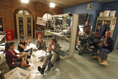 On The Set Of NCIS Oct 09. Tony, McGee, Abby, Ziva. Loved this episode!!