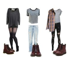 Effy Inspired Outfits with Maroon Dr. Martens *Requested by Anonymous* Links HERE Indie Outfits, Edgy Outfits, Grunge Outfits, Grunge Fashion, Look Fashion, Cool Outfits, Fashion Outfits, Womens Fashion, Dr. Martens