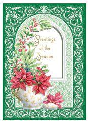 Carol/'s Rose Garden Dangeling Christmas Ornaments Christmas Card
