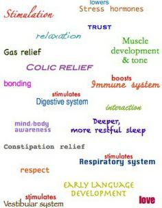 Just a few benefits of infant massage!