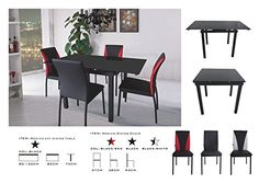 Modico Dining Table and 4 Chairs Sets, Black Glass Dining... https://www.amazon.co.uk/dp/B01C1KWET6/ref=cm_sw_r_pi_dp_x_XbR5xbPA8YZHT