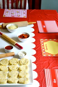 fun kid activity...make mini pizza using biscuits...I bet those mini pepperonis would work great for this!