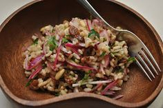 Scandi Home: Brown rice, pine nut and sultana salad