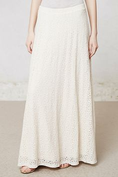 Hydrangea Lace Maxi #anthropologie--love the look!  Normally not a lace fan, but this is classy