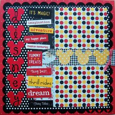 disney premade single 12x12 scrapbook page by urbansavanna