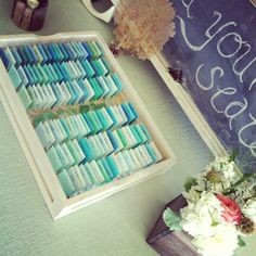 an inexpensive name tag that was perfect with my sea glass wedding color theme