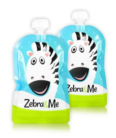 Zebra&Me kapsička na opakované použitie. Naplňte obľúbeným kašovitým príkrmom, ovocným alebo zeleninovým pyré, smoothie, jogurtom,... Použite znovu a znovu.