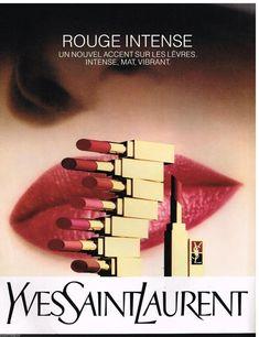 Publicité Advertising 1989 Cosmétique maquillage Yves Saint Laurent