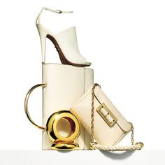 Spring Accessories - Top Trends to Try Now - Cream & Gold - Herve Leger by Max Azria