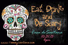 TammySantana.com: Halloween Sugar Skull Invite with Free Printable!