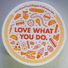 International Food Bloggers Conference Letterpress Coaster via The Beauty of Letterpress