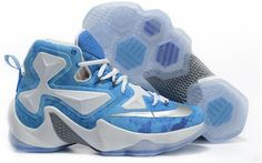 """Buy Xmas Deals Nike LeBron 13 """"Lake Erie"""" White Blue Silver Basketball  Shoes from Reliable Xmas Deals Nike LeBron 13 """"Lake Erie"""" White Blue Silver  ... f4c3eda1c0bb4"""